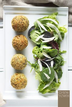 Baked Mushroom Arancini Recipe | Chew Town Food Blog