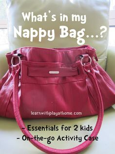 Learn with Play @ home: What's in my Nappy Bag? Play Based Learning, Learning Through Play, Learning Games, Craft Activities For Kids, Toddler Activities, Preschool Ideas, Toddler Busy Bags, Parenting Hacks, Crazy Catch