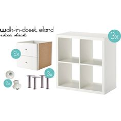 Walk in closet Eiland | Ikea hack by cherished on Polyvore featuring interior, interiors, interior design, maison, home decor, interior decorating, Capita and WallPops