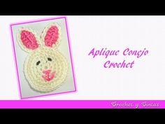 Aplique conejo tejido a crochet - YouTube