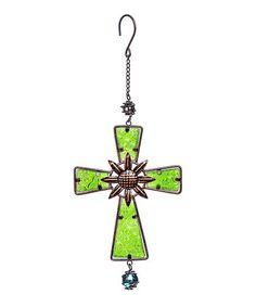 Green Hanging Cross | zulily