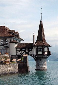 Oberhofen Castle, formerly a fortress built early 13th-century; later converted to castle. Became private property again 1801