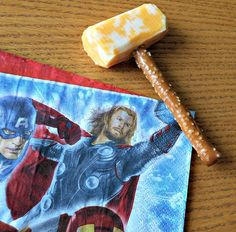 Edible Mjolnir Hammers! - A Family Fun Night Starring The Avengers - #CBias #MarvelAvengersWMT