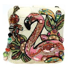 Mary Frances bag, resort 2015, Pink Flamingo Novelty
