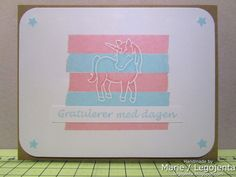 Lawnscaping Challenge #34 - #Embossing - Cool #technique by Marie! Embossing over washi tape (Honorable Gnome)