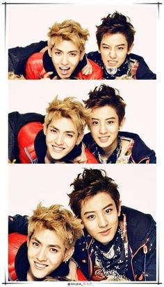 They just look so happy! - Kris & Chanyeol {EXO} that's the happiest I have ever seen Kris. Chanyeol Baekhyun, Exo K, Park Chanyeol, Got7, Block B, Exo Ot12, Chanbaek, 2ne1, K Pop