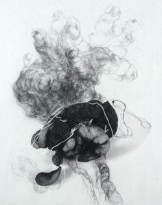 Contemporary Drawing - Transitory States (Original Art from Kamila Szczesna)