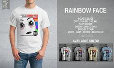 Kaos Distro Rainbow Face – 9GAG Series - PulauBelanja.Com