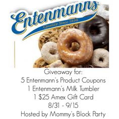Mommy's Block Party: Entenmann's Great American Milk Drive Sweepstakes + $70.00 Prize Pack #Giveaway