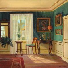 Frederik Wilhelm Svendsen (1885-1975): Interior with Daylight