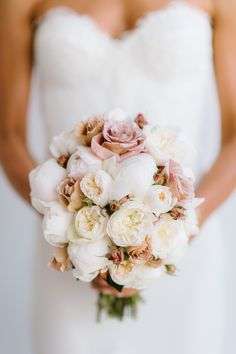 Rose and Peony Bouquet (yes?) See the wedding on SMP: http://www.StyleMePretty.com/australia-weddings/2014/02/27/traditional-melbourne-wedding/ Jerome Cole Photography