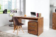 Drewniane biurko wykonane z drewna palisandrowego
