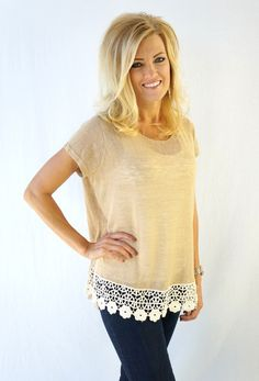 Signature Soft Lace Bottom Tee