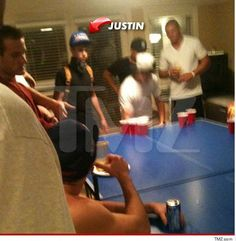 Justin Bieber Caught Playing Beer Pong!?