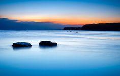 Blue night at Kimmeridge by Trevor Cotton, via Flickr