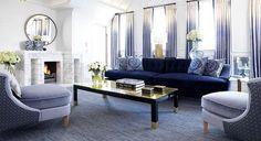 Beautiful blue living room. #InteriorDesign