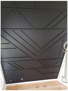 Black Accent Walls, Accent Walls In Living Room, Accent Wall Bedroom, Black Walls, Painted Accent Walls, Wooden Accent Wall, Accent Wall Designs, Wall Trim, Wall Molding