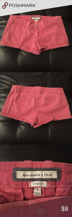 Abercrombie & Fitch Shorts Abercrombie & Fitch Shorts. Women's Size 4. It's like a Faded Red Color. Stretch. In great condition. Abercrombie & Fitch Shorts