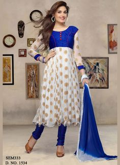 New arrival white long length cotton #anarkalisuit with 38% discount