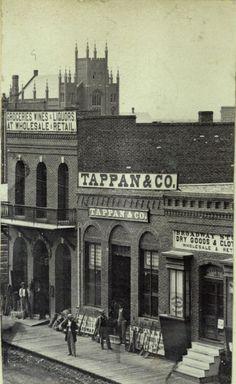 Businesses on Larimer Street, Denver, Colorado by William Gunnison Chamberlain, c. 1866