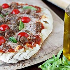 Grilled Sausage Pizza