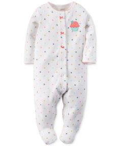 Carter's Baby Girls' Ice Cream Footed Coverall