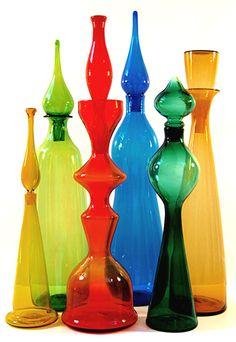 Mid-Century Modern •~• vintage MCM Blenko decanters