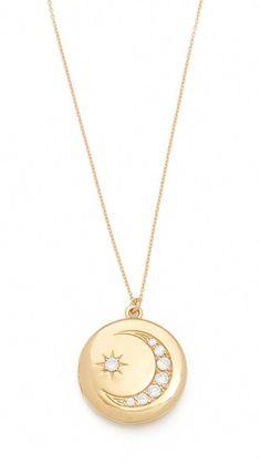 9aeef304993 Sasha Samuel Moon and Star Locket Necklace | SHOPBOP #locketnecklace