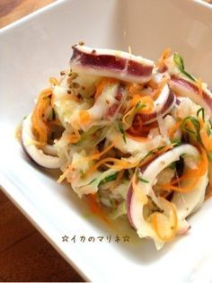 Ideas seafood recipes appetizers kitchens for 2019 Squid Recipes, Seafood Recipes, Gourmet Recipes, Appetizer Recipes, Cooking Recipes, Ceviche, Asian Recipes, Ethnic Recipes, Cafe Food
