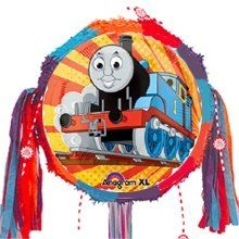 Thomas The Tank Engine On Track Pinata Kit by TrainWeb LLC. $15.99. Thomas The Tank Engine on track pinata kit. Now you can create your own unique Thomas train pinata. This pull string pinata fatures everyone's favorite Thomas the Tank Engine. Decorative ribbons (10-12 count) are pulled by each child to release the treasu