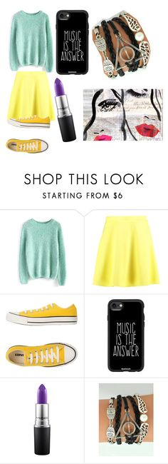 """*Astrology Series* Gemini"" by phoeinx ❤ liked on Polyvore featuring Chicwish, Boohoo, Converse, Casetify, MAC Cosmetics and Oliver Gal Artist Co."