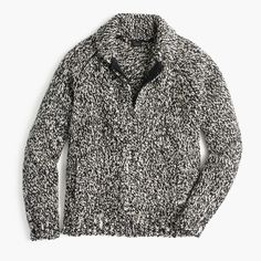 Wallace & Barnes full-zip shawl-collar sweater in Donegal wool
