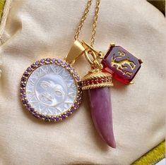 """Sacred Barcelona on Instagram: """"A swoon-worthy Sun and precious pink sapphire to brighten your day. One of a kind and perfect for pairing with other Sacred adornments from…"""" Zodiac Jewelry, Brighten Your Day, Pink Sapphire, Bracelet Watch, Barcelona, Pairs, Pendant Necklace, Sun, Accessories"""