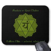 Anahata or Heart Chakra Mousepad