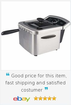 Electric #Deep Fryer Stainless Steel Basket Cooker Counter Top #Home #Food Cooking