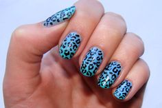 Ombre Leopard print nails! So cool!  Links for tutorials:  http://www.nail-art-101.com/leopard_nail_art.html  http://www.nail-art-101.com/ombre_nails.html