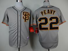 Christmas Day Cheap Wholesale Mens 2014 San Francisco Giants #22 Jake Peavy Road 2 Grey Cool Base Jersey Size M-XXXL Instock.Email US