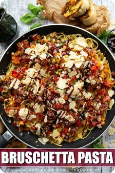 This pasta is the twist on bruschetta you never knew you needed. It's quick, easy, bright, vibrant and bursting with flavour! #bruschetta #pasta | www.dontgobaconmyheart.co.uk Best Pasta Recipes, Best Italian Recipes, Vegetarian Recipes, Dinner Recipes, Cooking Recipes, Healthy Recipes, Bruschetta, How To Cook Pasta, Snacks