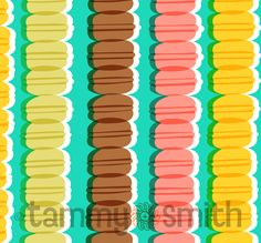 """macaroons-a piece from my new collection """"Just Desserts"""" debuting at Surtex booth 368 this year"""