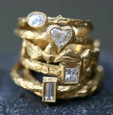 stacks of gold and diamonds