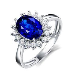 Ragyogó Drágakő Kék Zafír 925 Sterling Ezüst Menyasszony Esküvő Eljegyzés Gyűrű Ajándékok Ékszer Heart Ring, Creations, Sapphire, Dragon, Engagement Rings, Jewelry, Pasta, Jewels, Enagement Rings