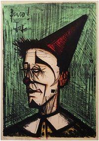 Portrait; Bravo Jo Jo. Artist; Bernard Buffet (1928 to '99). Copywrite ©