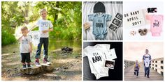 pregnancy announcement kids tees and baby onesies - Baby announcement ideas. Big brother tees, big sister announcement, matching sibling tees. Little Faces Apparel