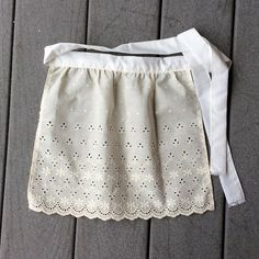 Check out Ivory Eyelet Apron, Birthday Gift for Girl, French Maid apron, Toddler Apron Old Fashioned Apron for tall doll, Sexy Costume Apron on blingscarves