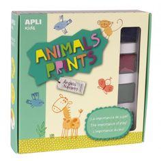 "Juego  ""Animals Prints"" Apli 14835"