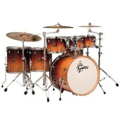 Amazon.com: Gretsch Drums Catalina Maple CMT-E826P-MOF 6-Piece Drum Set Mocha Fade: Musical Instruments