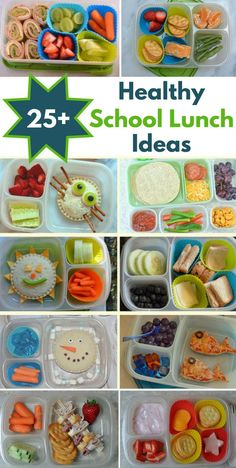 Healthy School Lunch Ideas Kids will never get bored with these healthy school lunch ideas. Make these lunch box ideas on Sunday night for stress free school mornings. The kids will love reaching into the fridge to grab a fun lunch for school.