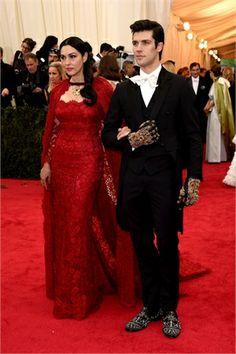 Monica Bellucci e Roberto Bolle | Met Gala 2014: the red carpet