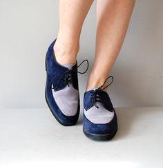 vintage Kind of Blue oxfords #oxfords #blue #vintageshoes