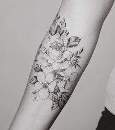 75 Meilleures Images Du Tableau Tatouage Fleurs Bras Tattoo Floral